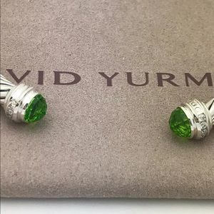 DAVID YURMAN 5mm PERIDOT DIAMONDS BRACELET